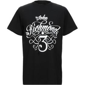 《セール開催中》JOHN RICHMOND メンズ T シャツ ブラック S コットン 100%