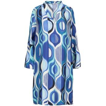 《セール開催中》CALIBAN レディース ミニワンピース&ドレス ブルー 40 シルク 100%