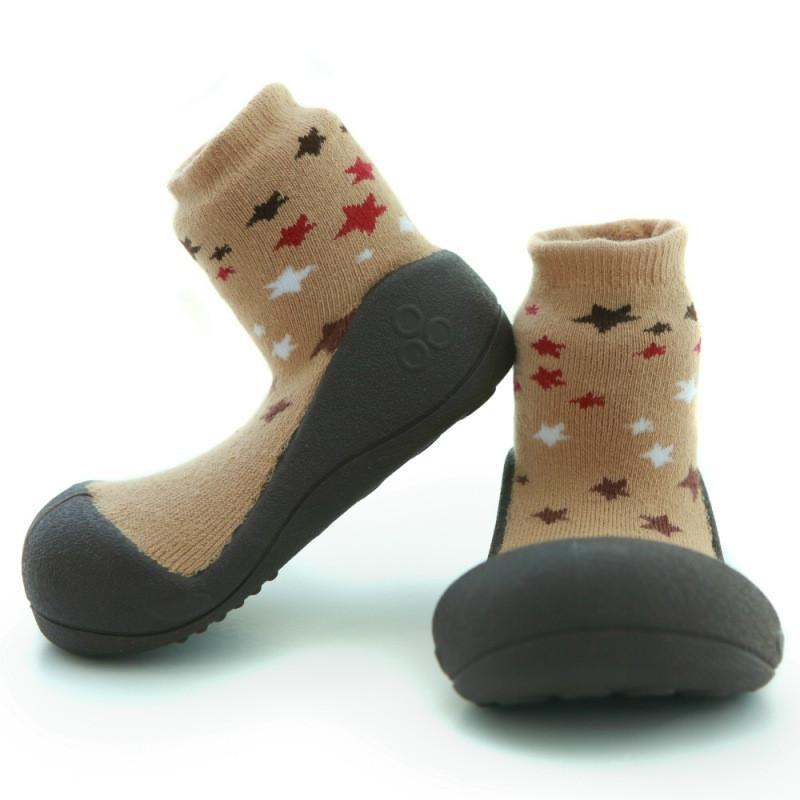快樂學步鞋-褐底星空- M