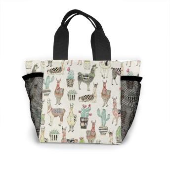 素敵なラマサボテンHoedownグレークリスマスロゴ トートバッグ おしゃれ レディース バッグ 買い物バッグ ランチバッグ エコバッグ ハンドバッグ