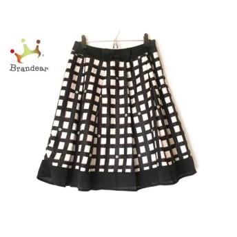 ギャラリービスコンティ GALLERYVISCONTI スカート サイズ2 M レディース 黒×白  値下げ 20200301