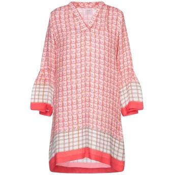 《セール開催中》CALIBAN RUE DE MATHIEU EDITION レディース ミニワンピース&ドレス ピンク 40 シルク 100%