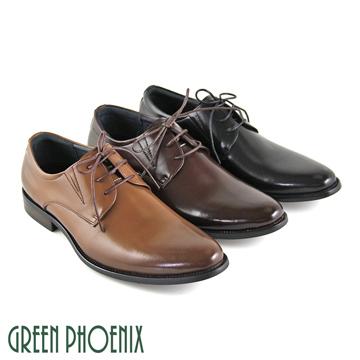 GREEN PHOENIX 波兒德 極簡素面流線綁帶全真皮紳士皮鞋 男鞋 T59-10962