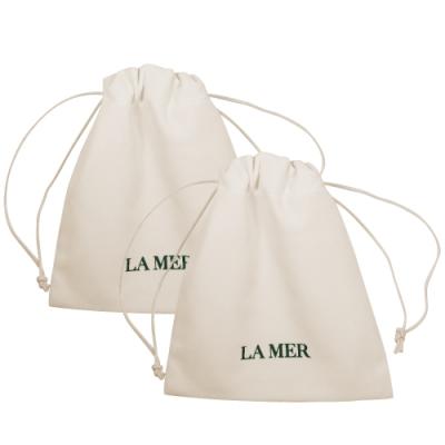 LA MER 海洋拉娜 絲絨收納束口袋(象牙白)*2