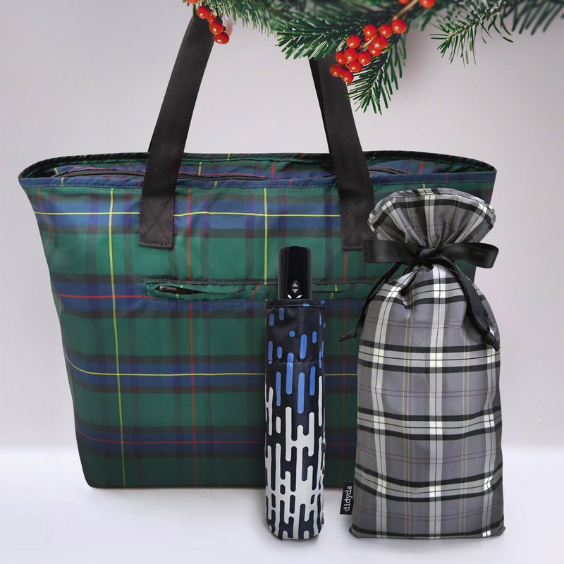 限量冬季禮物組 自動傘系列 任選花色 - 贈送防水束口禮物袋