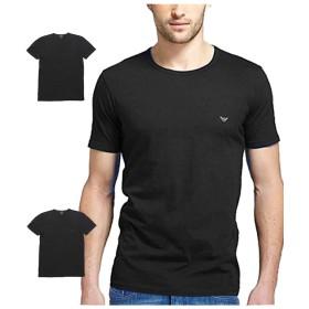 (エンポリオアルマーニ) EMPORIO ARMANI 3枚セット メンズ Tシャツ クルーネック ブラック 黒 L(USサイズ) [並行輸入品]