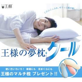 王様の夢枕 クール (専用カバー付) W52×D34×H12cm 【王様のマルチ枕をプレゼント】