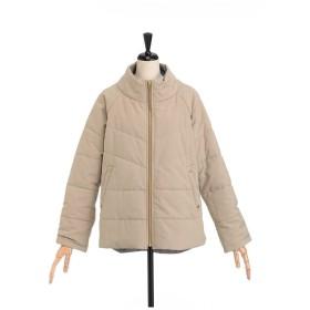 SIMPLE LIFE チェックリバーシブル中綿ジャケット その他 コート,サンドベージュ