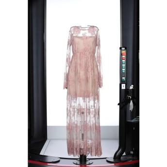 《セール開催中》GUARDAROBA by ANIYE BY レディース ロングワンピース&ドレス ピンク M コットン 51% / ナイロン 49%