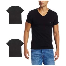 (エンポリオアルマーニ) EMPORIO ARMANI VネックTシャツ3枚セット 3Pack Pure Cotton V Neck T-shirt CC722-110856 ブラック 21320 L