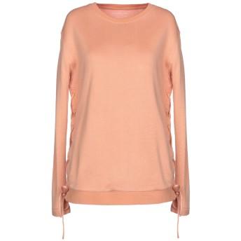 《セール開催中》MAJESTIC FILATURES レディース スウェットシャツ あんず色 1 コットン 55% / レーヨン 25% / キュプラ 20%