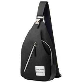[RONDE] 斜めがけ ボディバッグ ショルダーベルト iPadmini収納可 メンズ (ブラック)