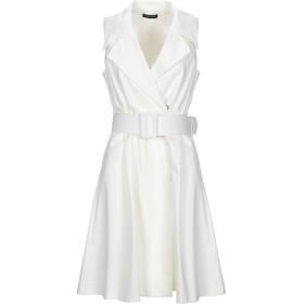 《セール開催中》MARIELLA ROSATI レディース ミニワンピース&ドレス ホワイト 40 コットン 62% / ナイロン 33% / ポリウレタン 5%