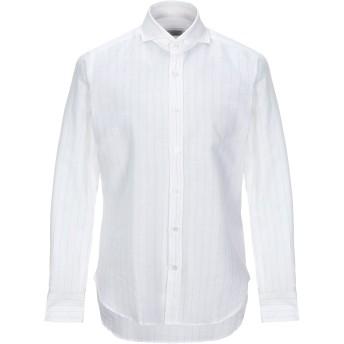 《セール開催中》GUGLIELMINOTTI メンズ シャツ アイボリー 39 リネン 60% / コットン 40%