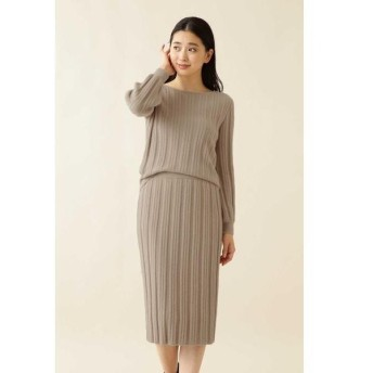 NATURAL BEAUTY BASIC / ナチュラルビューティーベーシック |with steady. 掲載|[洗える]ラメニットセットアップ
