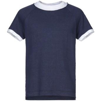 《セール開催中》DANIELE FIESOLI メンズ T シャツ ダークブルー M 麻 97% / ポリウレタン 3%
