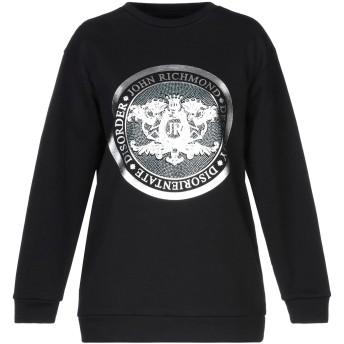 《セール開催中》JOHN RICHMOND レディース スウェットシャツ ブラック S コットン 100%