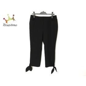 トゥービーシック TO BE CHIC パンツ サイズ46 XL レディース 美品 黒 リボン 新着 20191203