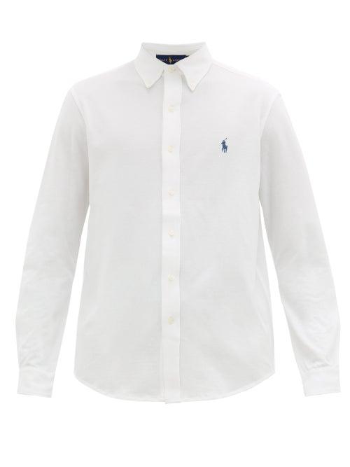 Polo Ralph Lauren - Logo-embroidered Cotton-piqué Shirt - Mens - White