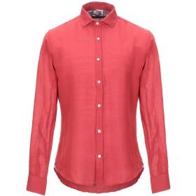 《セール開催中》HAVANA & CO. メンズ シャツ レッド S リネン 100%