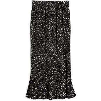 《セール開催中》TOPSHOP レディース ロングスカート ブラック 6 ポリエステル 100% BLACK STAR TIE PLEATED MIDI SKIRT