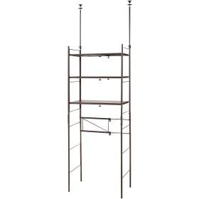 幅伸縮キッチンラック 突っ張り式・棚3段 幅47.5~70cm・高さ194~272cm 703806(サイズはありません イ:ダークブラウン)