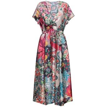《セール開催中》CALIBAN レディース 7分丈ワンピース・ドレス フューシャ 42 シルク 100%