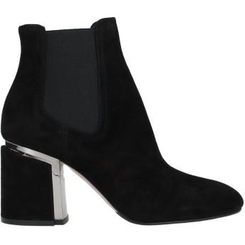 《セール開催中》LE SILLA レディース ショートブーツ ブラック 35 革 / 指定外繊維(その他伸縮性繊維)