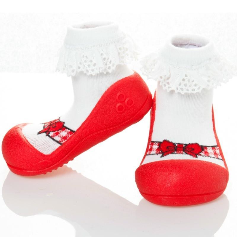 快樂學步鞋-芭蕾紅- L