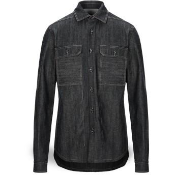《セール開催中》DRKSHDW by RICK OWENS メンズ デニムシャツ ブラック S コットン 100%