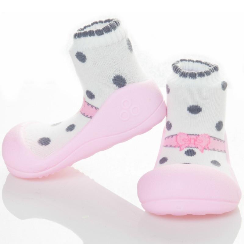 快樂學步鞋-芭蕾粉紅- M