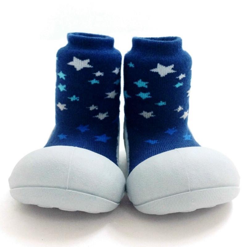 快樂學步鞋-白底星空- M
