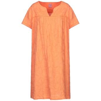 《セール開催中》PHILO MODA レディース ミニワンピース&ドレス オレンジ 42 リネン 100%