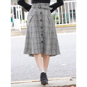 dazzlin(ダズリン)/ハイウエスト前ボタンミディスカート