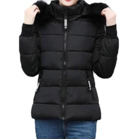 cheelot Women's Warm Hood Zip Up Thick Winter Casual Weekend Parka Jacket Black XL