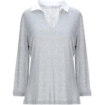 《セール開催中》JEANS & POLO レディース ポロシャツ ライトグレー 42 レーヨン 96% / コットン 3% / ポリウレタン 1%