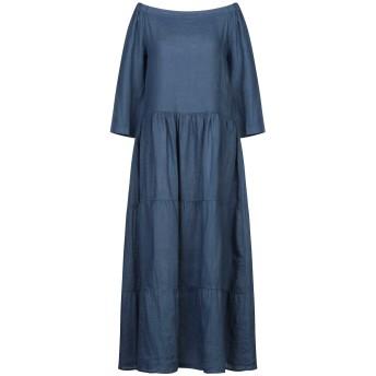 《セール開催中》CROSSLEY レディース ロングワンピース&ドレス ブルー XS 麻 100%