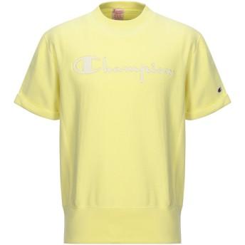 《セール開催中》CHAMPION REVERSE WEAVE メンズ スウェットシャツ イエロー M コットン 100%