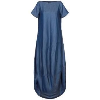 《セール開催中》AVANTGAR DENIM by EUROPEAN CULTURE レディース 7分丈ワンピース・ドレス ブルー XXS テンセル 100%