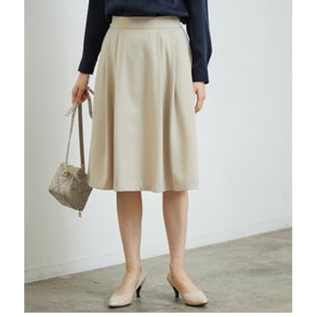 【ROPE' PICNIC:スカート】タックフレアスカート
