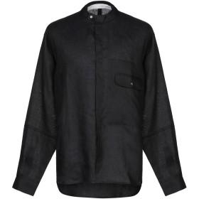 《セール開催中》ISABEL BENENATO メンズ シャツ ブラック 46 麻 100%