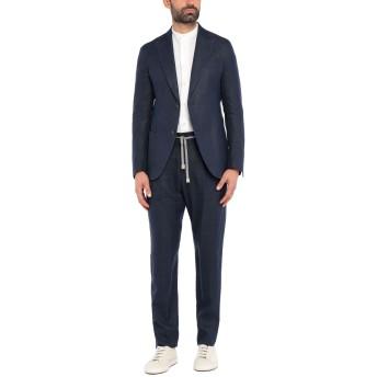 《セール開催中》ELEVENTY メンズ スーツ ダークブルー 52 リネン 49% / ウール 32% / シルク 19%