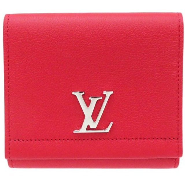 ルイヴィトン ポルトフォイユ ロックミー2 コンパクト ダブルホック財布 M64308 二つ折り財布 レッド 未使用品 【財布】