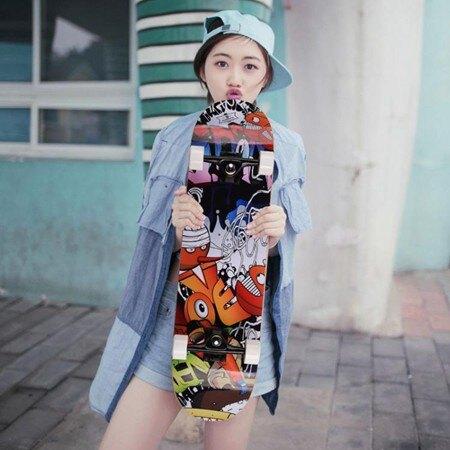 短板滑板 初學者滑板短板 女生成人新手雙翹板韓國刷街 萬事屋  聖誕節禮物