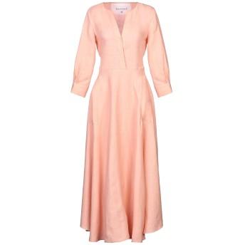 《セール開催中》LE SARTE PETTEGOLE レディース ロングワンピース&ドレス あんず色 42 リネン 100%