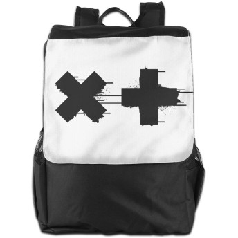 Black White Garrix バックパック リュック 男女兼用 大容量 多機能 リュックサック 旅行 通勤 通学 PC収納 高耐久性