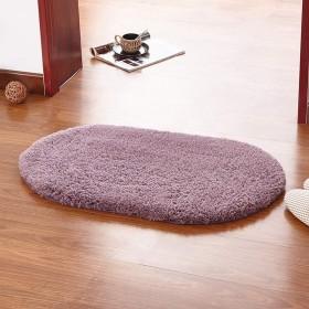 カーペット、寝室オーバルカーペットリビングルームバスルームキッチンクッションマットカーペット (Color : Gray-purple, Size : 6090cm)