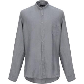 《セール開催中》ALESSANDRO DELL'ACQUA メンズ シャツ グレー 44 ラミー 100%