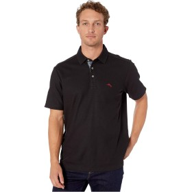 Tommy Bahama トップス シャツ Ltd Ed 5 O'Clock Polo Short Sleeve Black メンズ [並行輸入品]