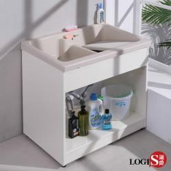LOGIS  雙槽無門櫃體洗衣槽 86CM * 58CM 洗手台 A1002